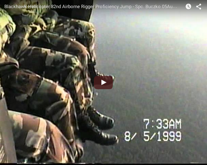 82nd Airborne Rigger Proficiency Jump – Blackhawk