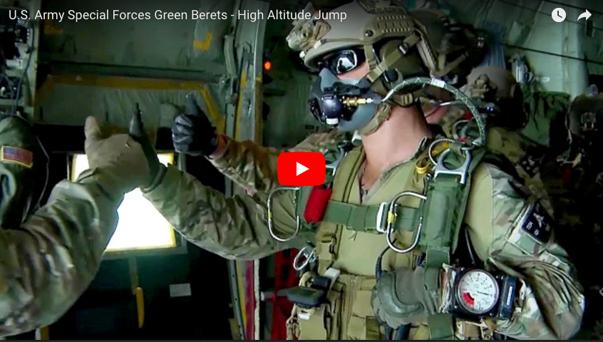 [VIDEO] 7th Special Forces Green Berets High-Altitude Jump