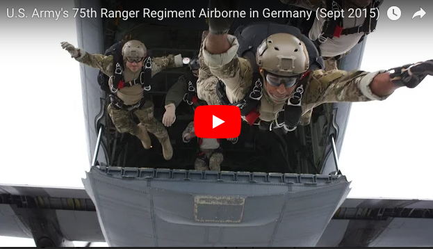 [VIDEO] U.S. Army's 75th Ranger Regiment Airborne in Germany