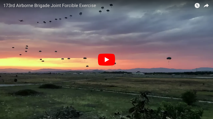 173rd Airborne Brigade Joint Forcible Exercise