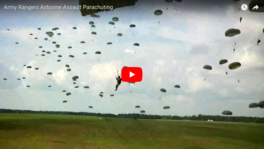 [VIDEO] The 75th Ranger Regiment jump into Fort Benning's Fryar Drop Zone