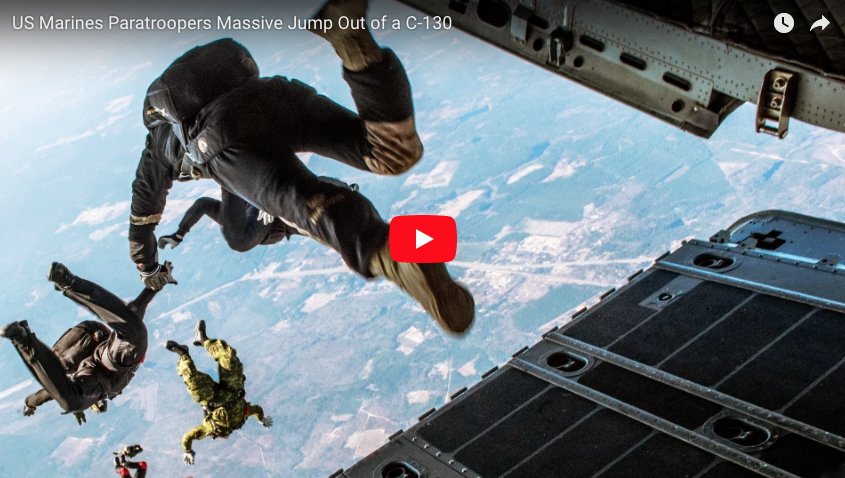 [VIDEO] The USMC Jumps Out of a C-130