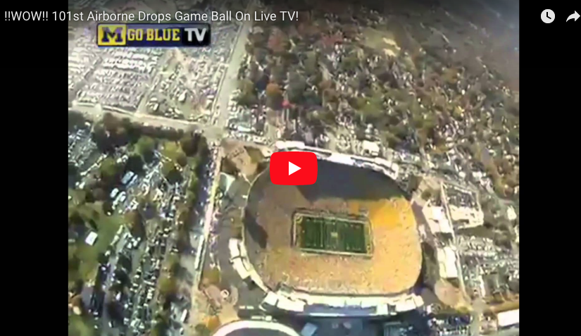 [VIDEO] 101st Airborne Drops Game Ball On Live TV
