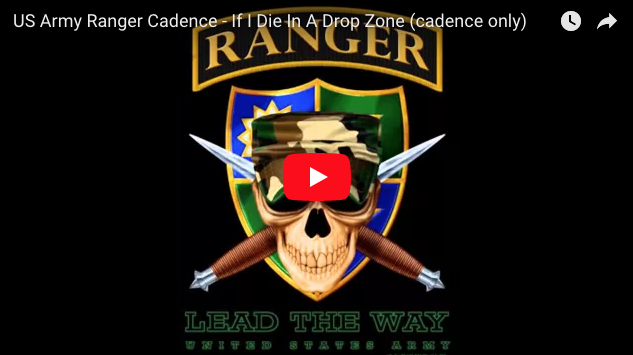 [VIDEO] If I Die In A Drop Zone – Army Rangers Version