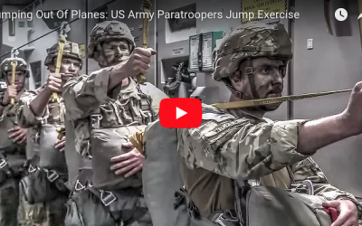 [VIDEO] Jumping Out Of Planes: US Army Paratroopers Jump Exercise