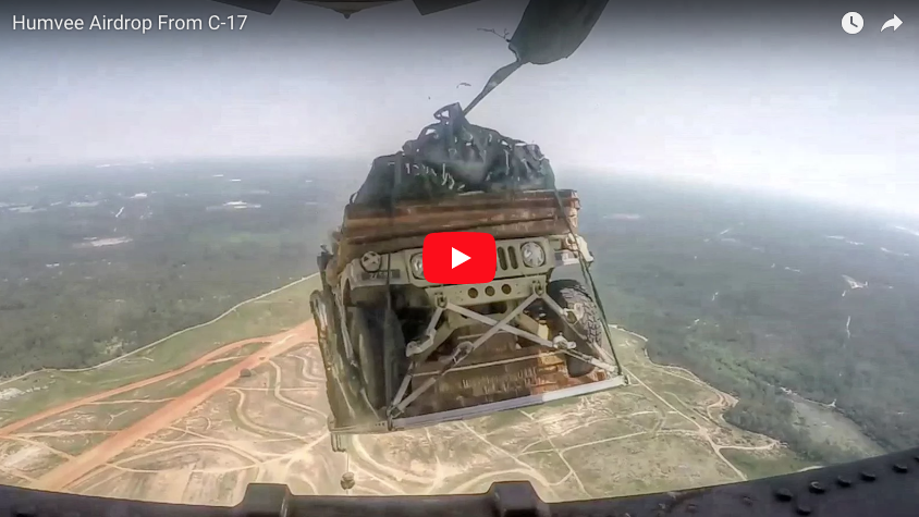 [VIDEO] Humvee Airdrop From C-17