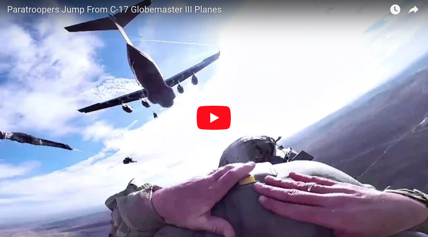[VIDEO] Paratroopers Jump From C-17 Globemaster III