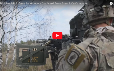 NATO & U.S. Paratroopers Combined Arms Assault Live Fire Exercise