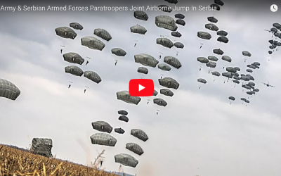 US & Serbian Paratroopers Joint Airborne Jump In Serbia