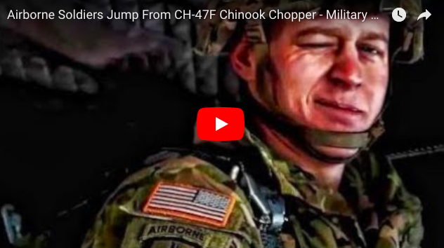 Jumping From CH-47F Chinook Chopper