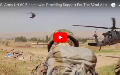 U.S. Army UH-60 Blackhawks Providing Support For The 82nd Airborne