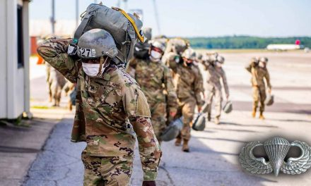 Paratrooper Hit in Head with Ruck Sack After Landing