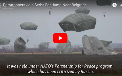 U.S. Paratroopers Join Serbs For Jump Near Belgrade