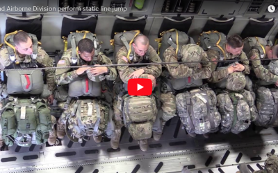 82nd Airborne Division perform static line jump