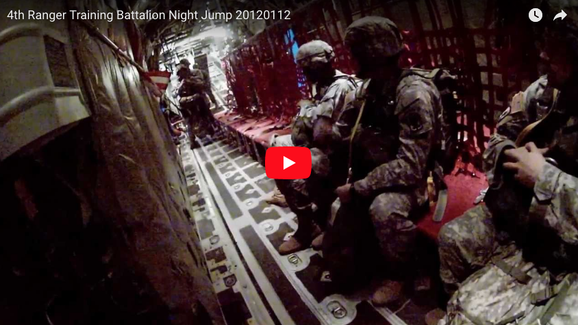 4th Ranger Training Battalion Night Jump at Fryar DZ