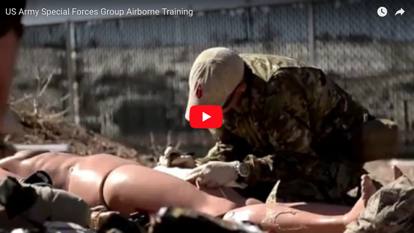 US Army Special Forces Group Airborne Training