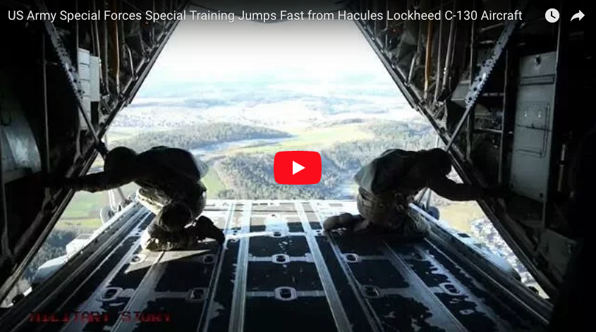 US Army Special Forces Special Training Jump from Hercules C-130