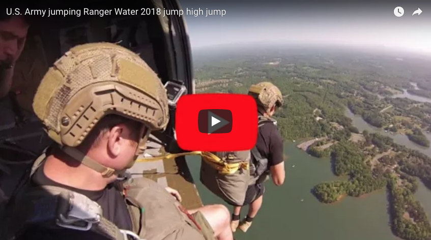 U.S. Army jumping Ranger Water 2018