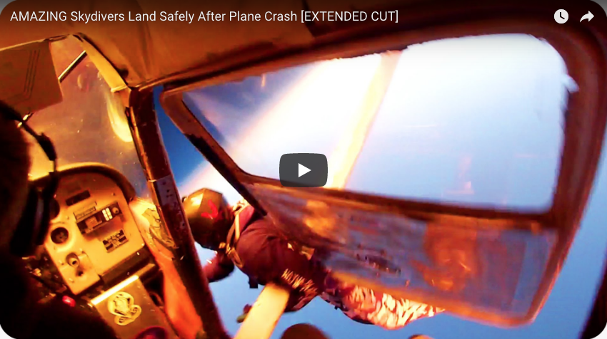 AMAZING Skydivers Land Safely After Mid Air Collision!