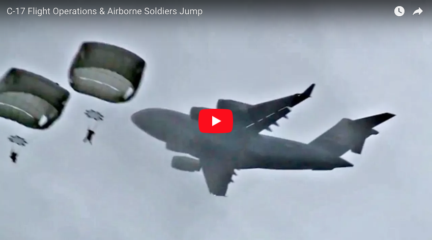C-17 Flight Operations & 4th Brigade Combat Team Jump