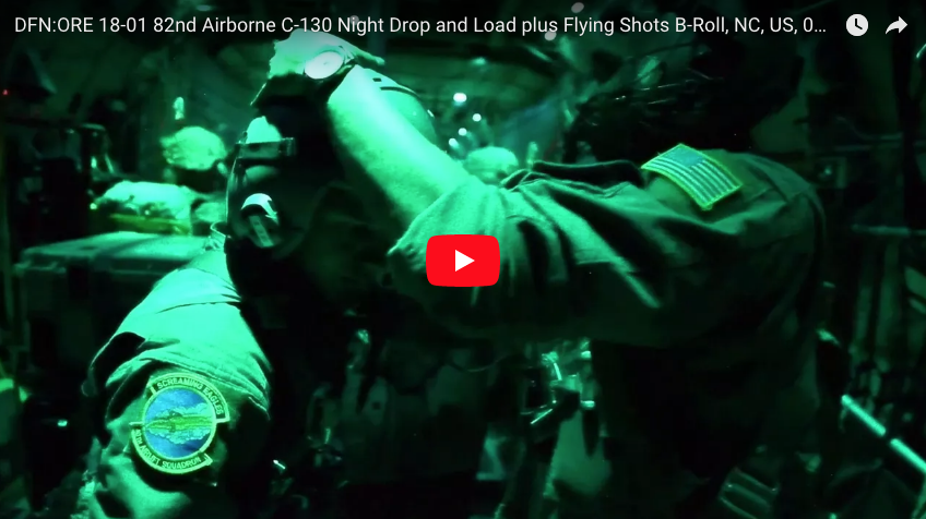 82nd – C130 Night Drop & Load plus Flying Shots, Ft Bragg