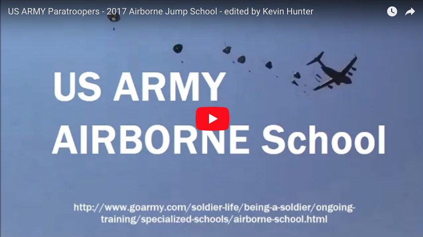 US ARMY Paratroopers – 2017 Airborne Jump School