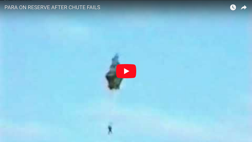British Paratrooper's Chute Fails then Deploys his Reserve (close call)