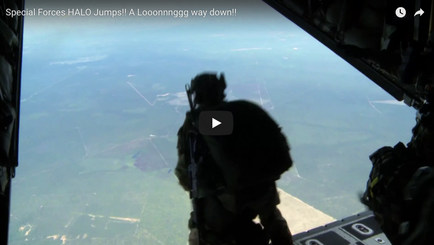 7th Special Forces Green Berets HALO Jump – A Long Way Down!