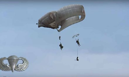 Paratroopers Collide & Get Tangled in Mid-Air