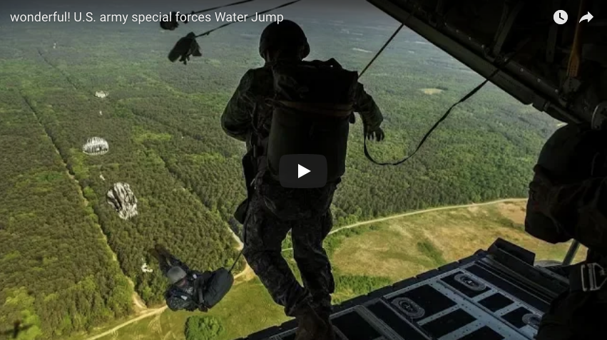 US Army Special Forces Water Jump – (Share this with your LEG friends)