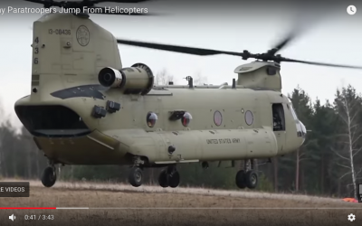 173rd Jump – From Chinook Helicopters
