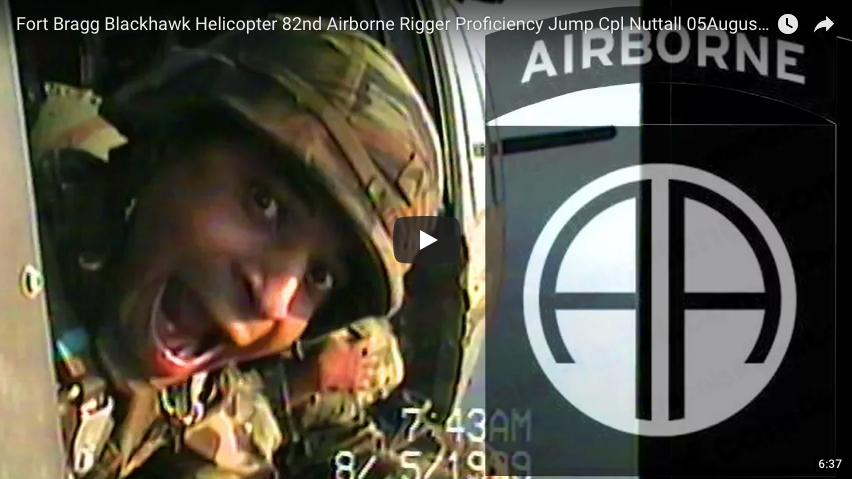 Fort Bragg Blackhawk Helicopter 82nd Airborne Rigger Proficiency Jump