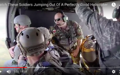 Soldiers Jumping Out Of A Perfectly Good Helicopter