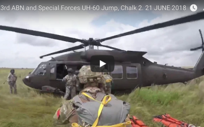 173rd ABN and Special Forces UH-60 Jump JUNE 2018
