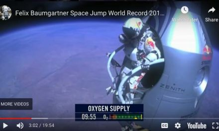 World Record Skydive from Space