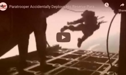 Paratrooper Accidentally Deploys His Reserve Parachute Inside Plane