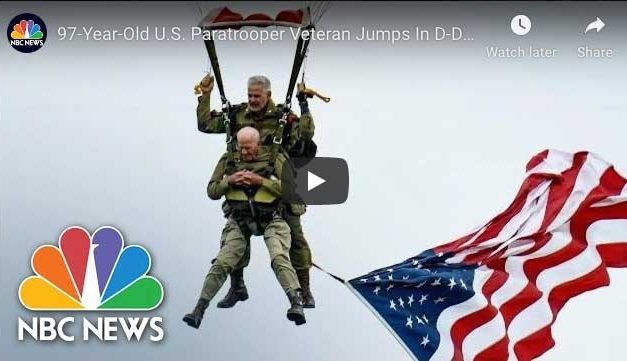 97-Year-Old U.S. Paratrooper Veteran Jumps again