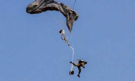 Filipino paratrooper's reserve opens with less than 20 feet until impact!