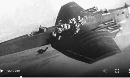 Crazy Paratrooper Exit: Soviet Paratroopers Sliding Off Plane's Wing