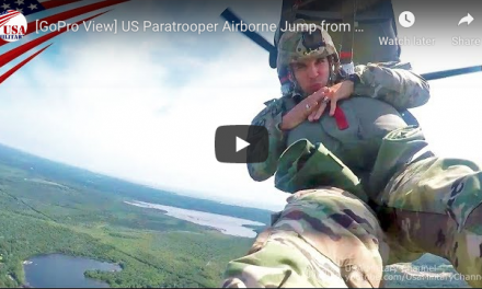 Paratrooper Jump from Chinook Using MC-6 Parachute – Awesome
