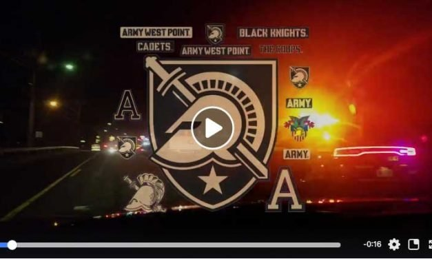 Cadet Running Game Ball to Philly for Army Navy Game