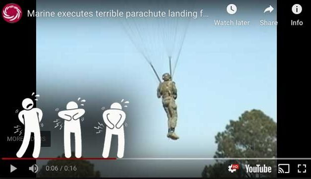 Paratrooper's Terrible PLF – Landed Like a Sack of Potatoes
