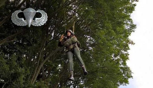 How Paratroopers Get Down After Landing in a Tree