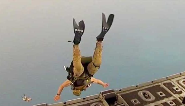Pararescue Water Jump Out Of C-130