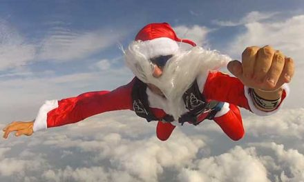 World Record Santa Skydive